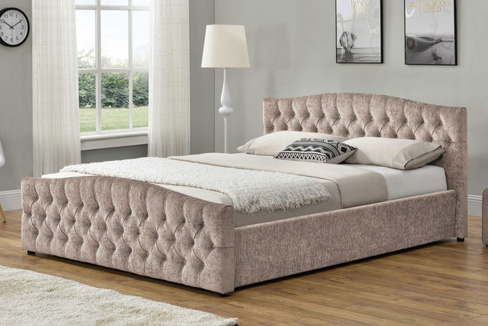 Chesterfield Bed with Ottoman Storage